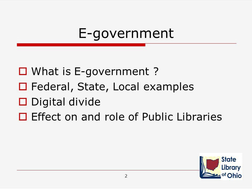 Public Libraries – Sources  Public access computing and Internet access in public libraries: the role of public libraries in e- government and emergency situations.