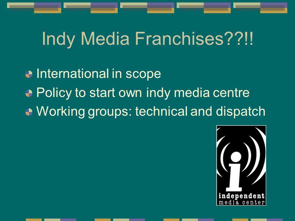 Indy Media Franchises??!.