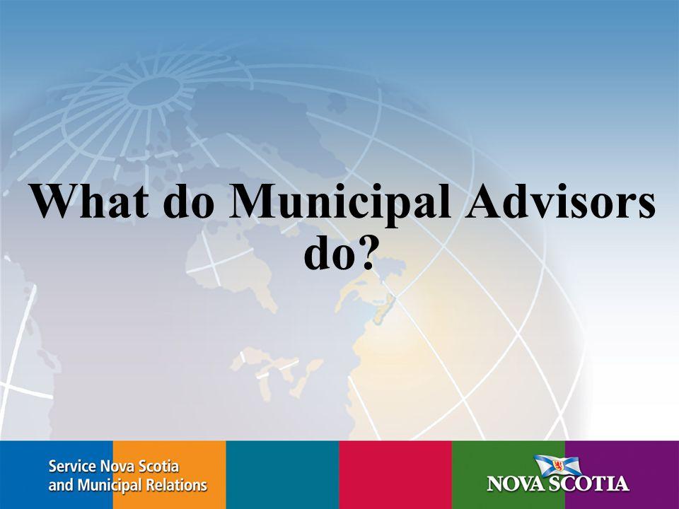 What do Municipal Advisors do?
