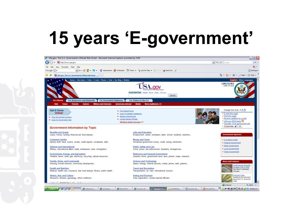 Enabling Transformation - E- government Strategy (2006) Vision Transforming the way government works for you Milestones By 2007, information and communication technologies will be integral to the delivery of government information, services, and processes.