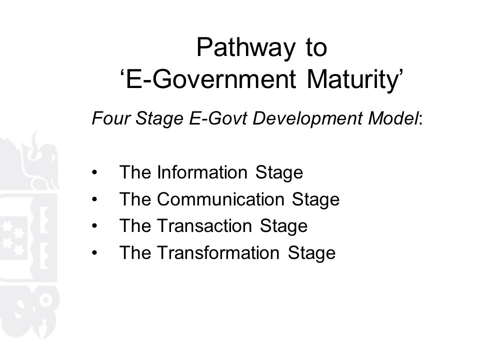 Next stage 'E-Government'?