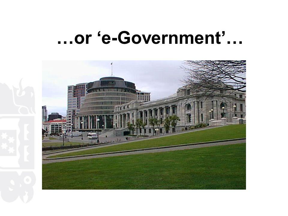 …or 'e-Government'…