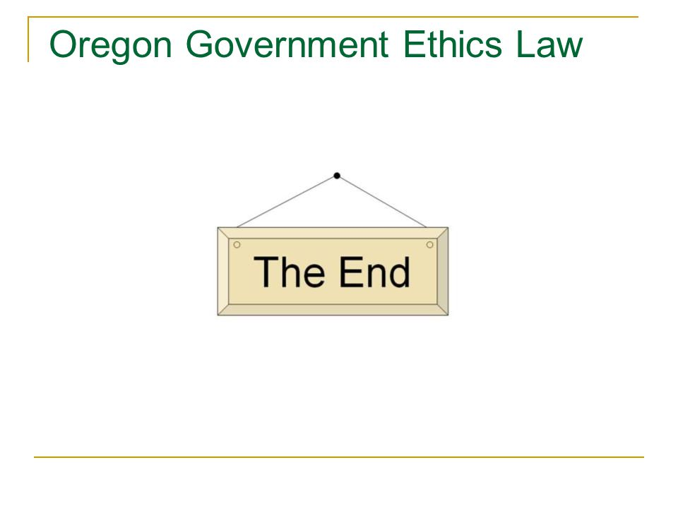 Oregon Government Ethics Law