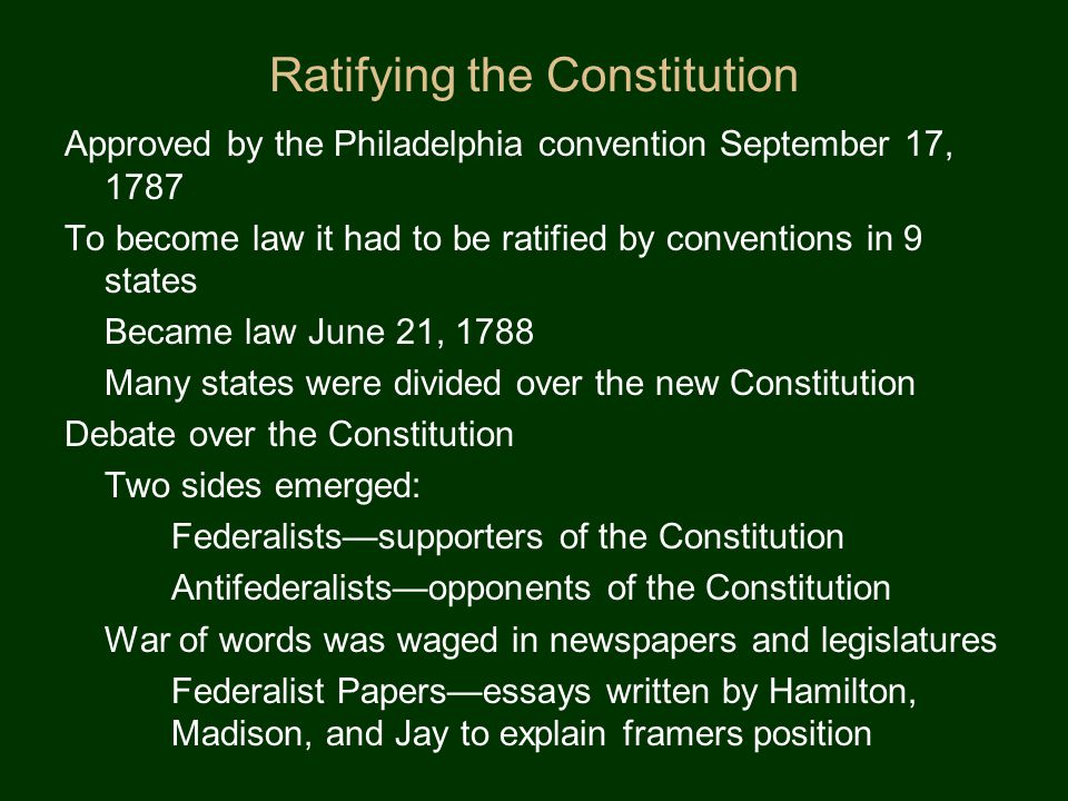 How did the Constitution fix the problems contained in the Articles