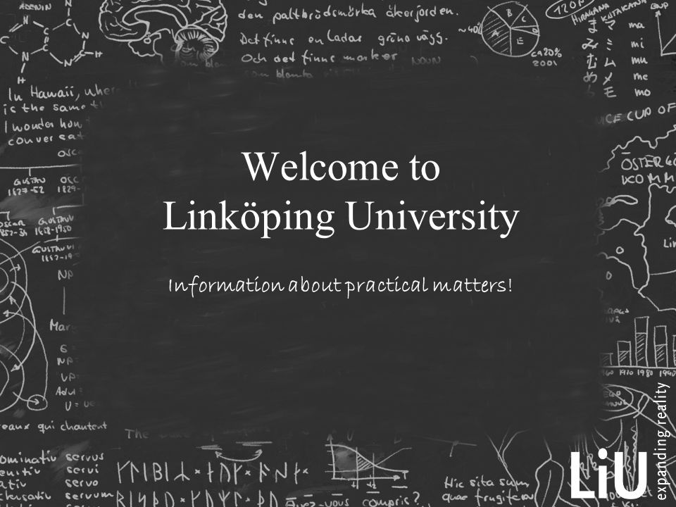 Welcome to Linköping University Information about practical matters!