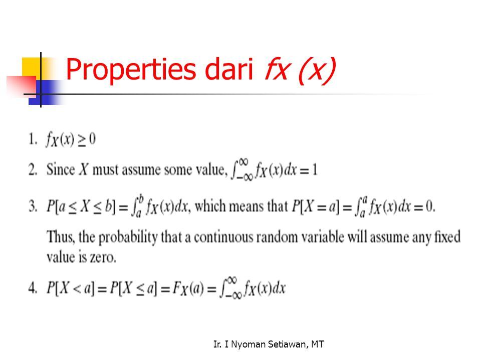 Ir. I Nyoman Setiawan, MT Properties dari fx (x)