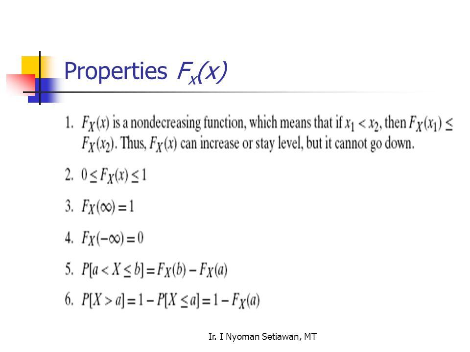 Ir. I Nyoman Setiawan, MT Properties F x (x)