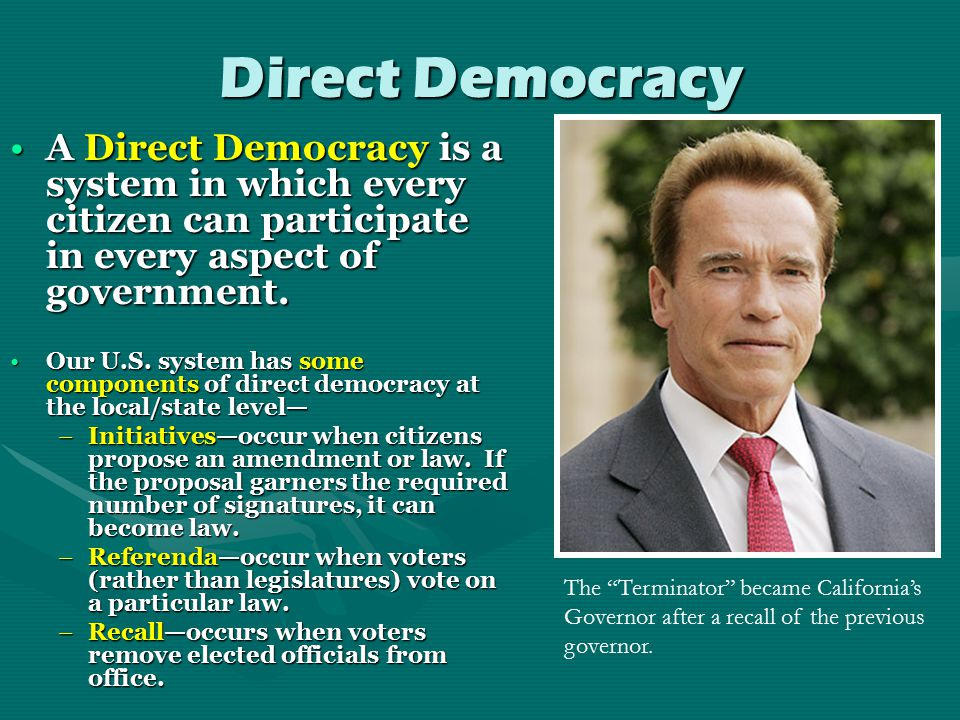 Democracy Democracy is government by the people… and power is held by many, rather than a few.Democracy is government by the people… and power is held by many, rather than a few.