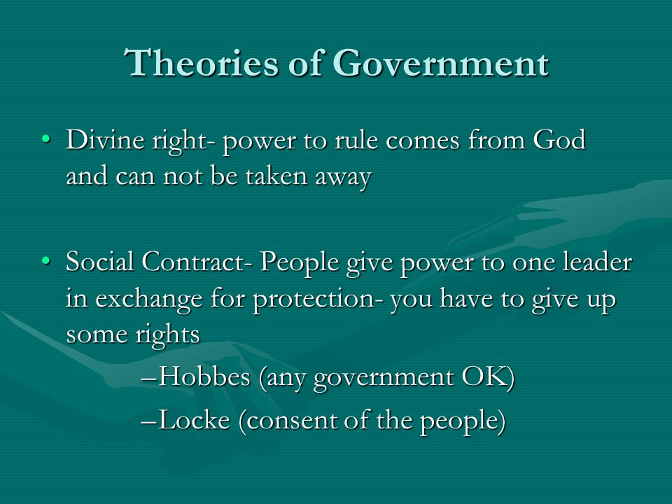 Purposes of Government: Why Have One.