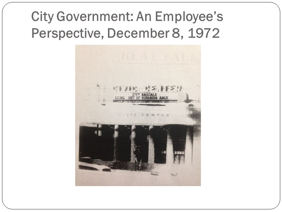 City Government: An Employee's Perspective, December 8, 1972