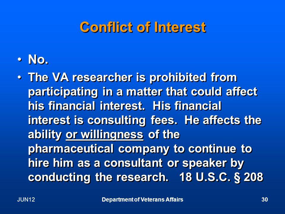 Conflict of Interest No.