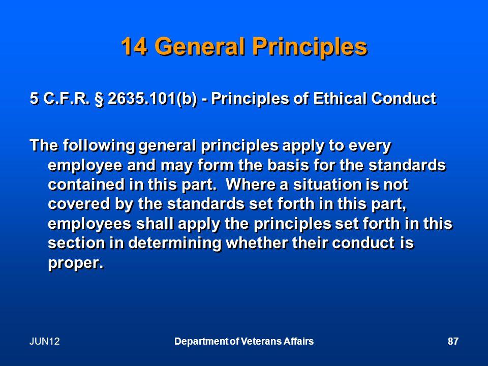 14 General Principles 5 C.F.R.