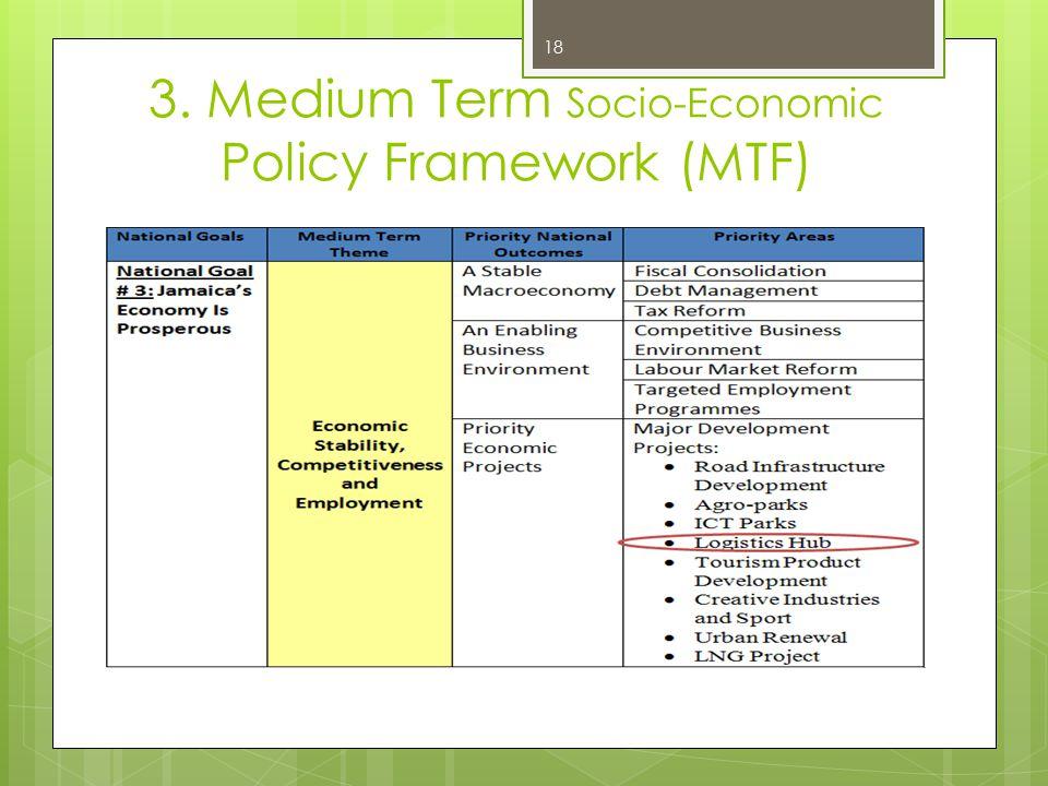 3. Medium Term Socio-Economic Policy Framework (MTF) 18