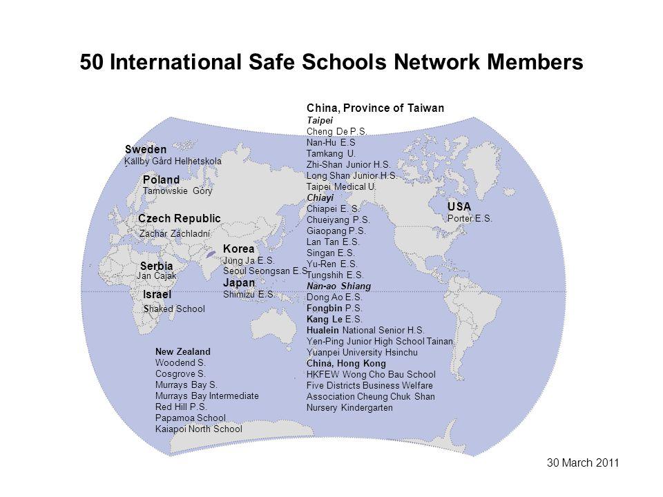 50 International Safe Schools Network Members Sweden Källby Gård Helhetskola ´ Poland Tarnowskie Góry Czech Republic Zachar Záchladní Serbia Jan Čajak