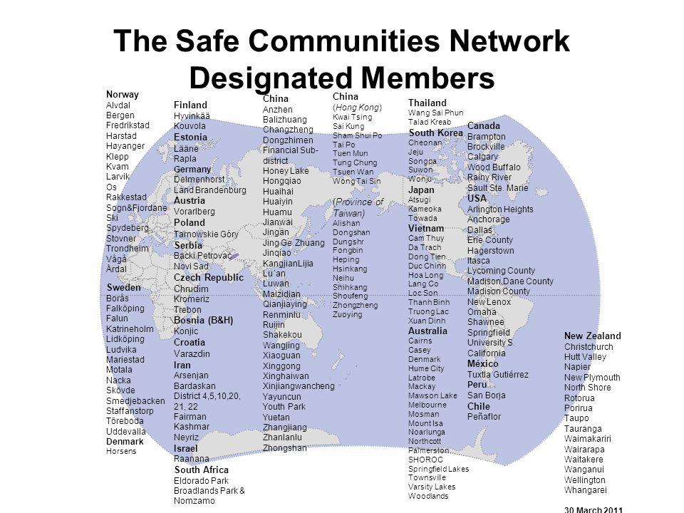 The Safe Communities Network Designated Members Norway Alvdal Bergen Fredrikstad Harstad Høyanger Klepp Kvam Larvik Os Rakkestad Sogn&Fjordane Ski Spy