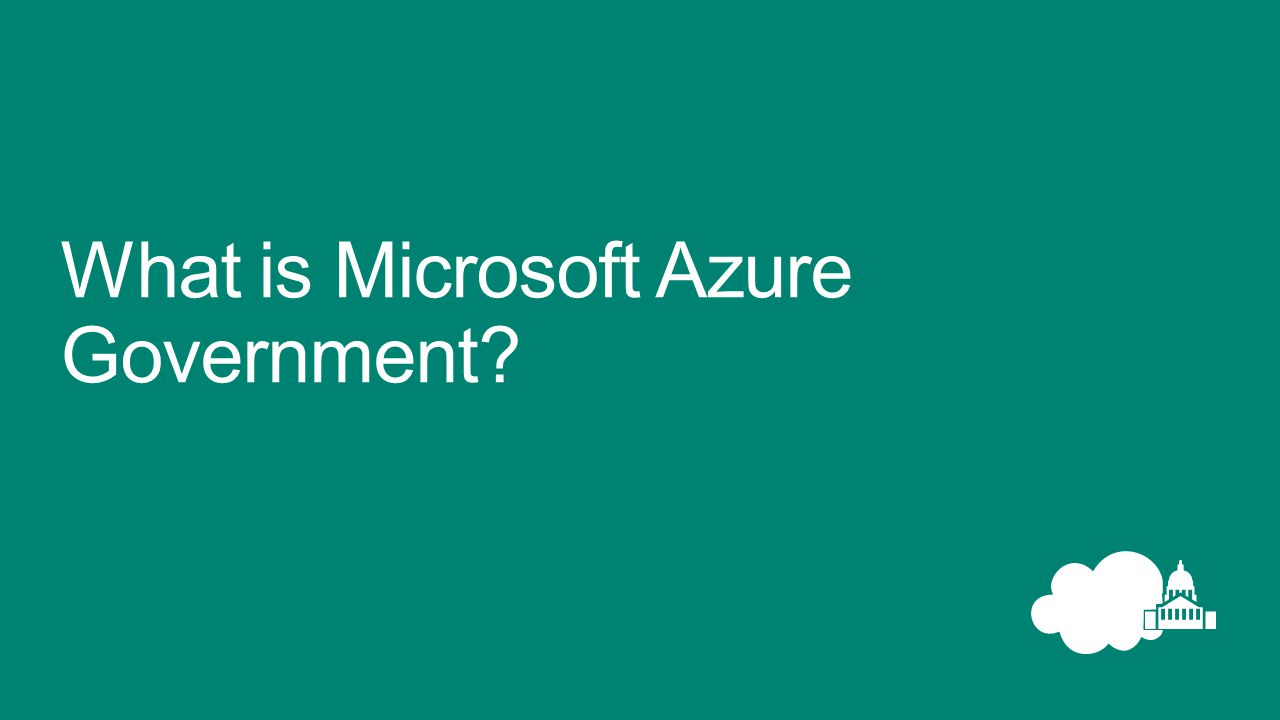 What is Microsoft Azure Government?