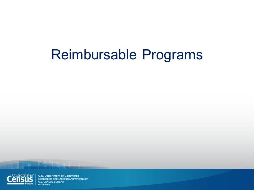 Reimbursable Programs