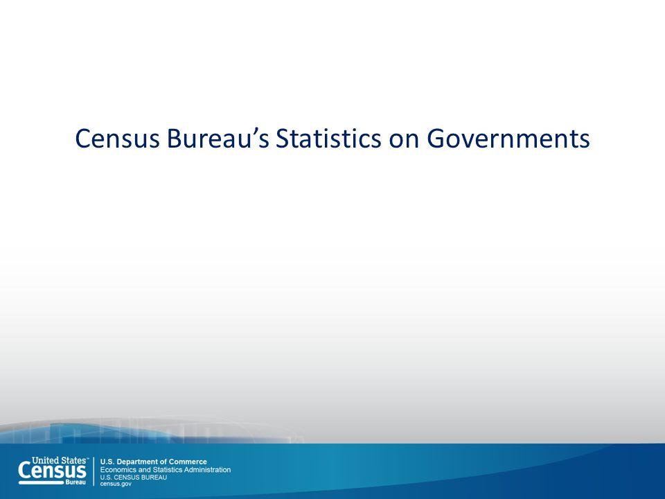 Census Bureau's Statistics on Governments