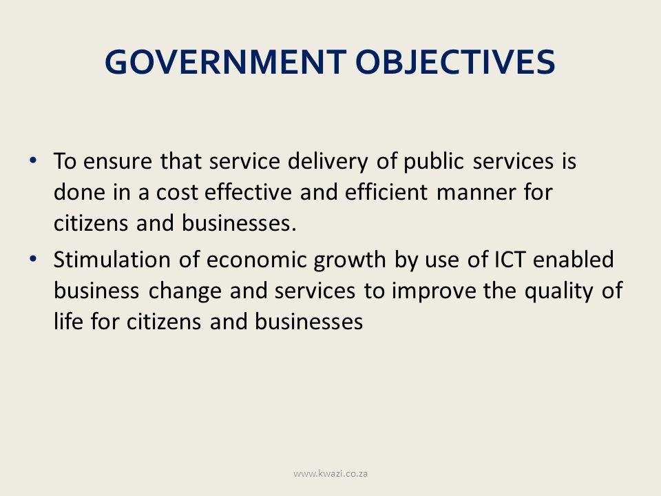 Shared Service Model www.kwazi.co.za E-Government Central Government Local Government Shared Services
