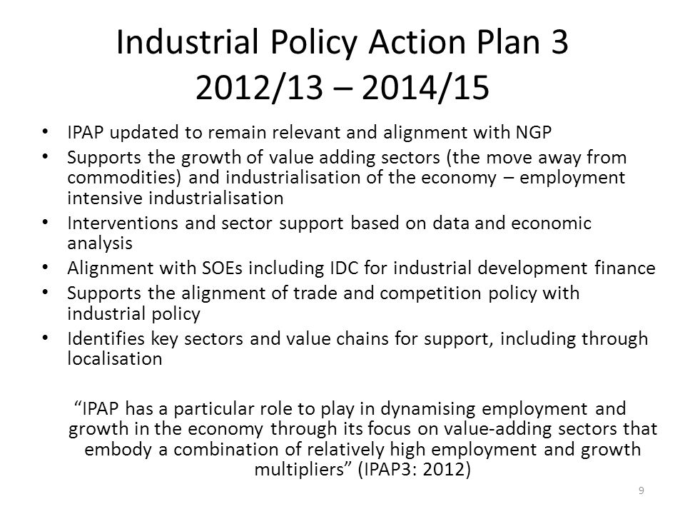 Policy framework for support to SMME sector The Integrated Strategy on the Promotion of Entrepreneurship and Small Enterprises identifies three pillars … Strategy identifies need for clarity, focus, coordination 10