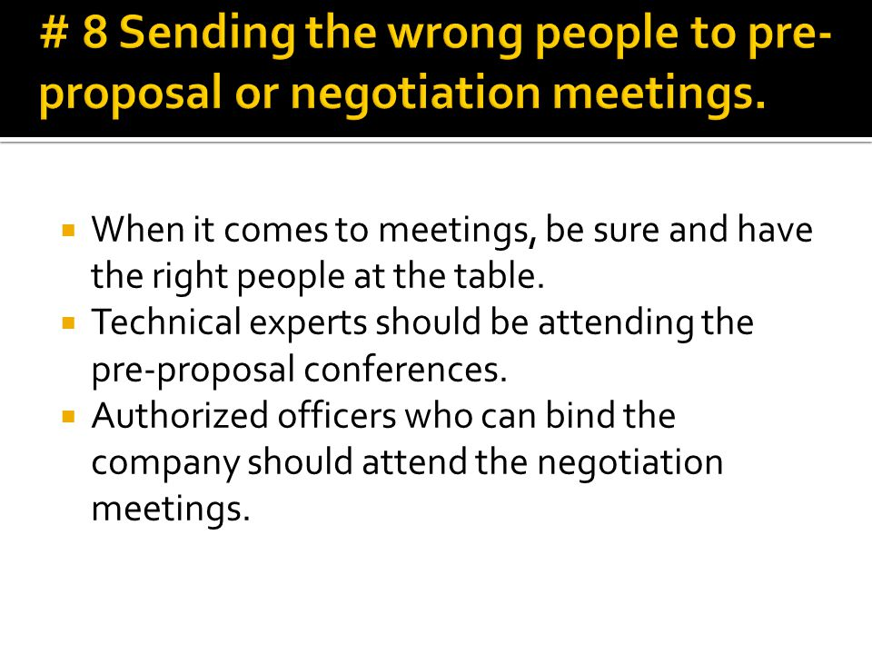  Always direct your communications to the single point of contact shown in the RFP.
