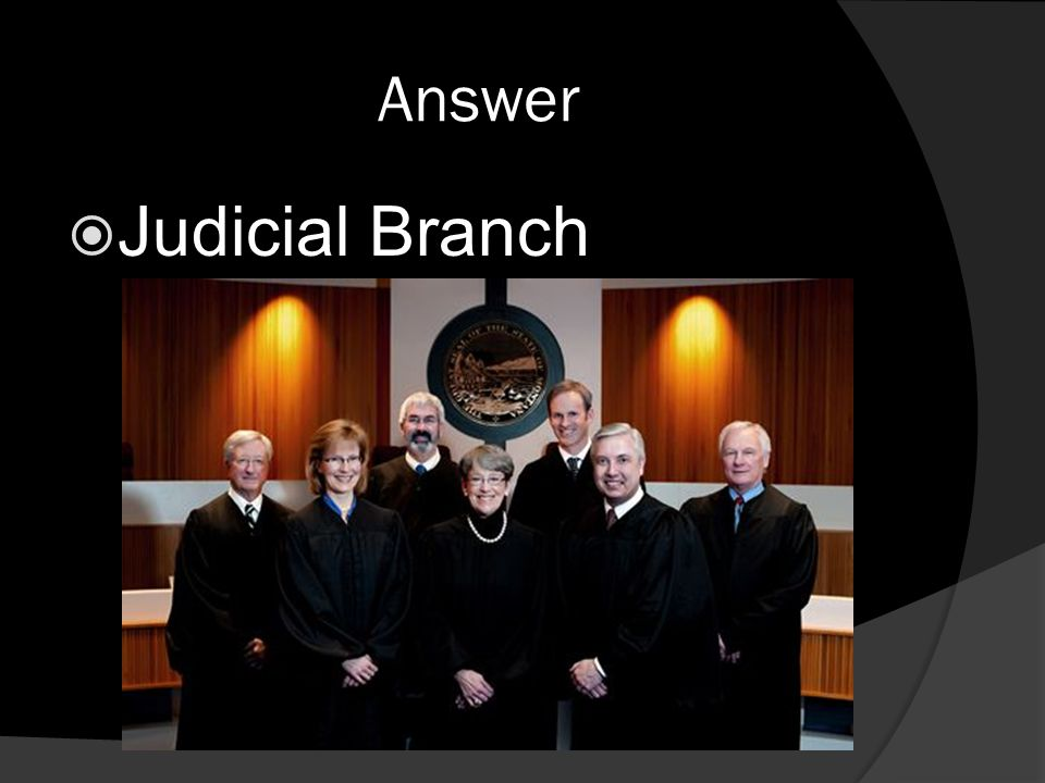 Answer  Judicial Branch