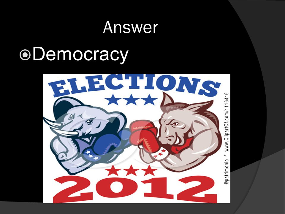 Answer  Democracy