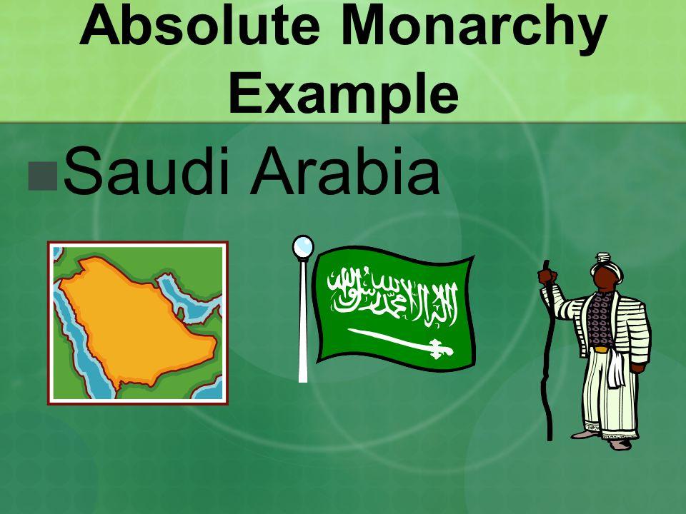 Absolute Monarchy Example Saudi Arabia