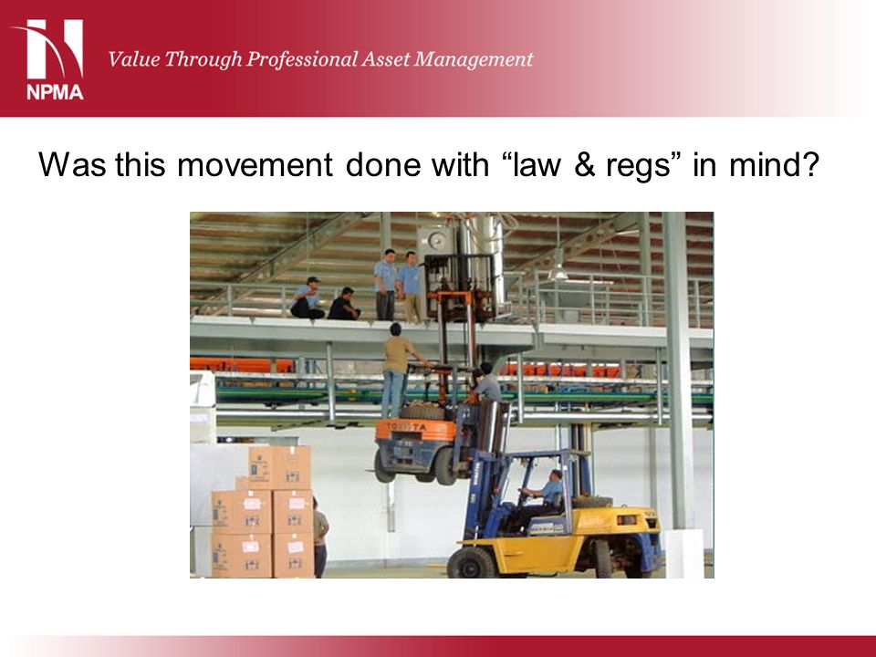 """Was this movement done with """"law & regs"""" in mind?"""