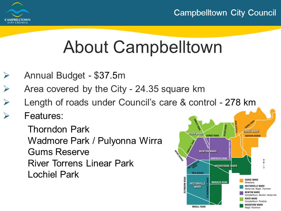 Campbelltown City Council  Contribute to guiding Council's strategic directions and governance  Adopting policies and budgets to provide a framework for the provision of services and programs  Elected Members have no direct authority over an employee of the Council with respect to the way in which the employee performs his or her duties  The Code of Conduct for Elected Members (a mandated legislative requirement applying to all SA Councils) provides guidance regarding expectations of behaviour Role of Elected Members