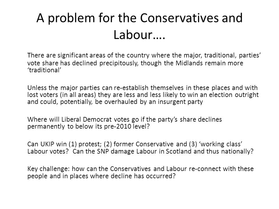 A problem for the Conservatives and Labour….