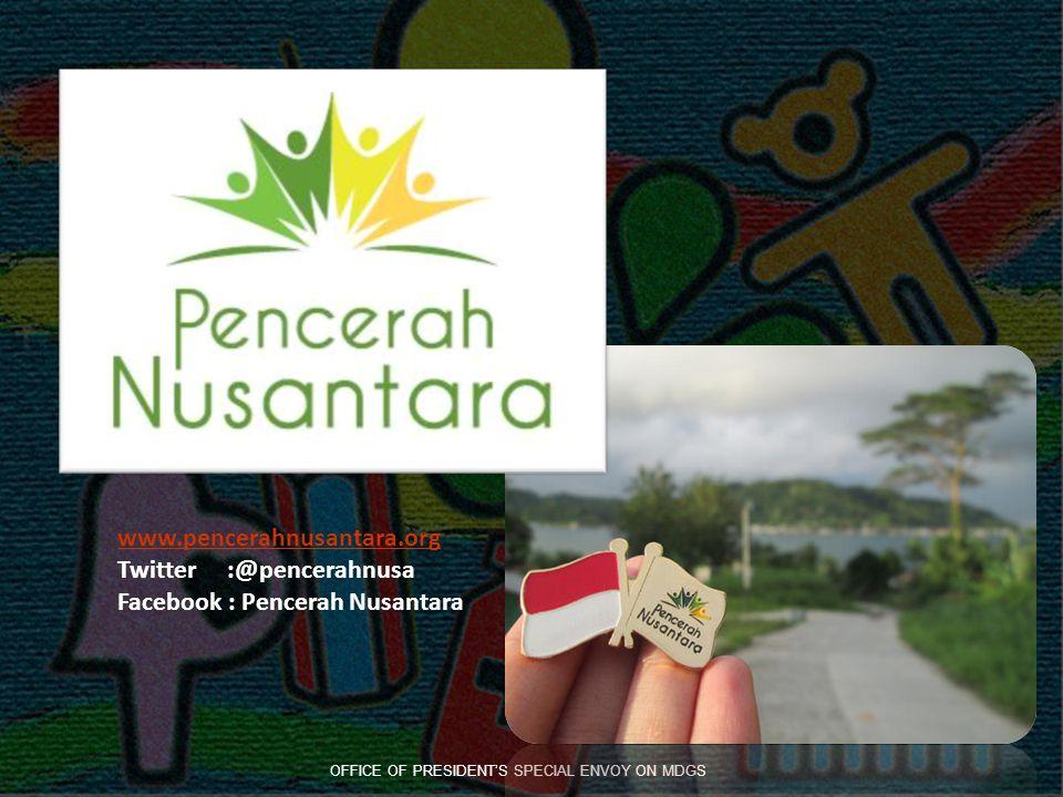 www.pencerahnusantara.org Twitter :@pencerahnusa Facebook : Pencerah Nusantara OFFICE OF PRESIDENT'S SPECIAL ENVOY ON MDGS