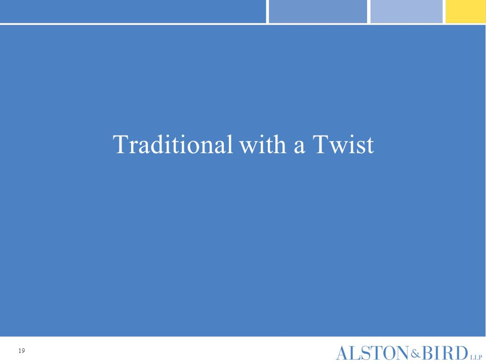 19 Traditional with a Twist