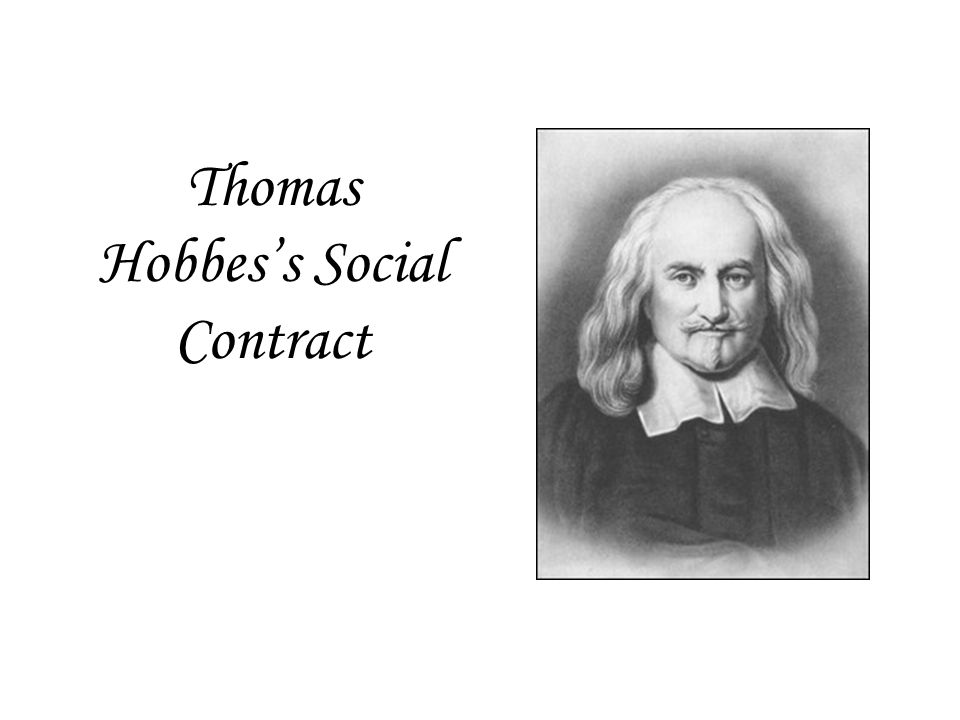 Thomas Hobbes's Social Contract