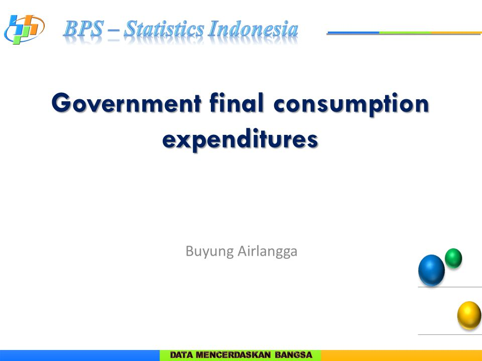 Government final consumption expenditures Buyung Airlangga