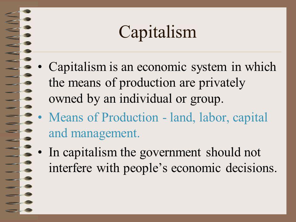 Economic Systems of the World Capitalism Socialism Communism