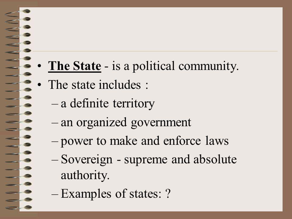 Powers Executive power- enforce laws Judicial power- interpret laws Legislative power- make laws