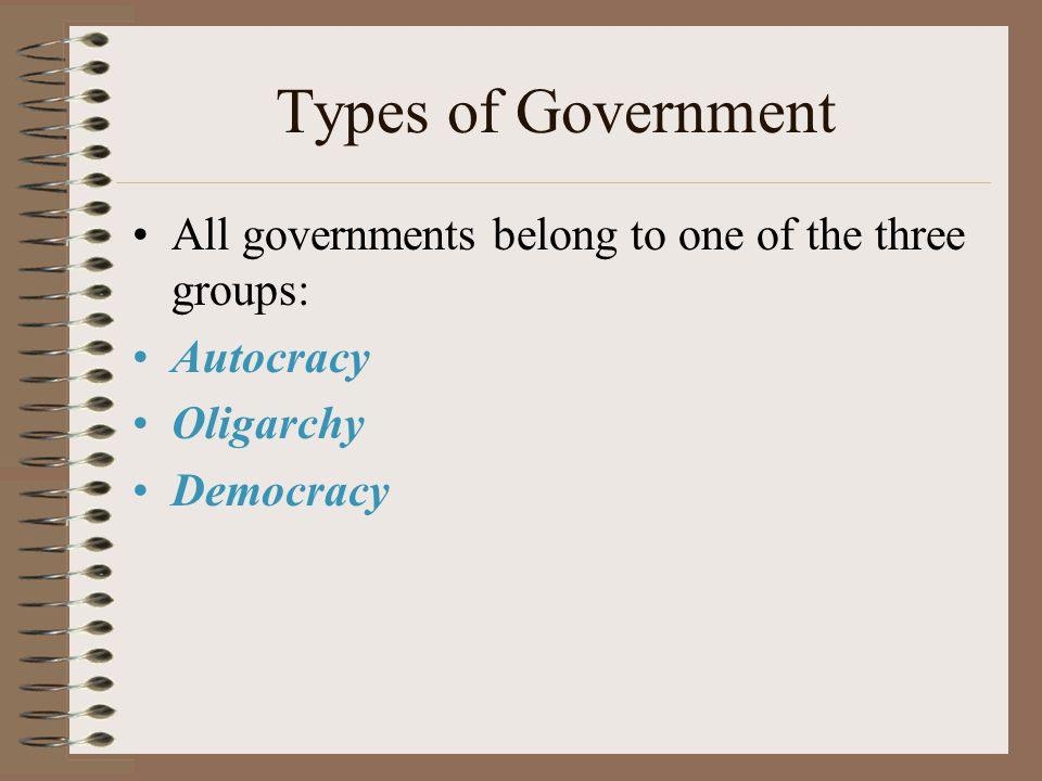 Purposes of Government: Maintaining Social Order (examples) To Provide Public Services (examples) To Provide for a National Security (examples) To Pro