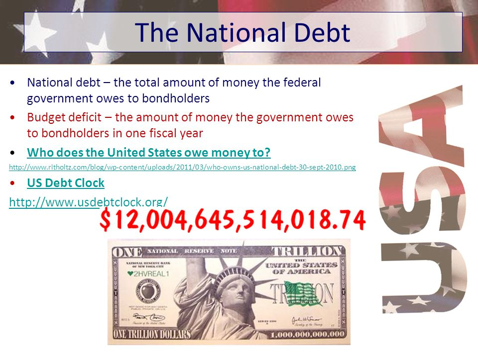 Create money – the government can print or inject money into economy Borrow money – government borrows money by selling bonds –Bond is a type of loan