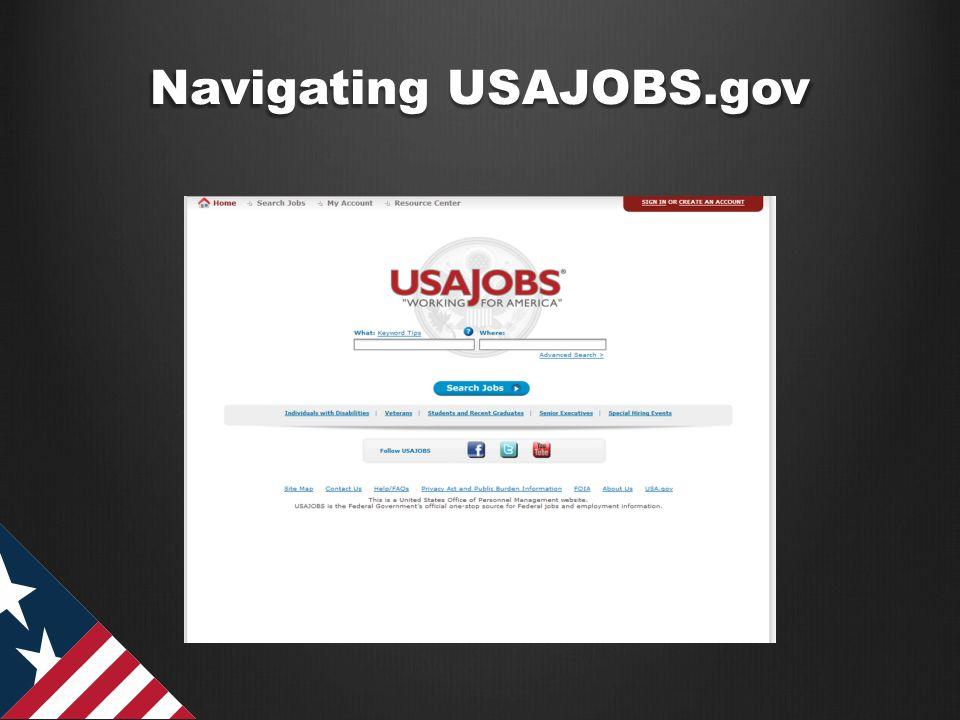 Navigating USAJOBS.gov