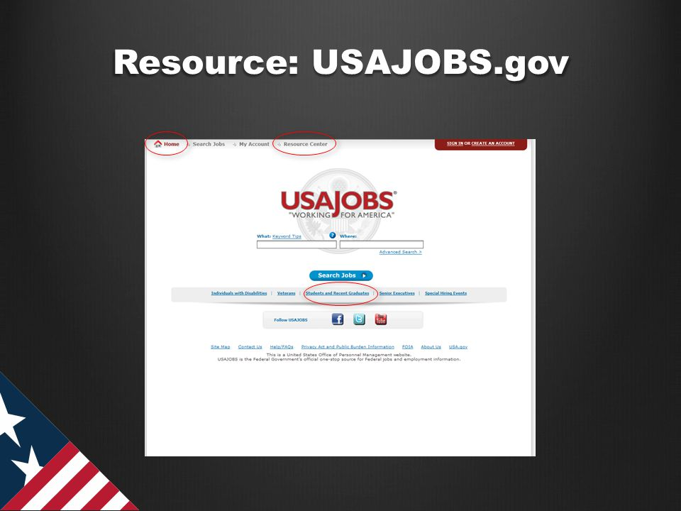 Resource: USAJOBS.gov
