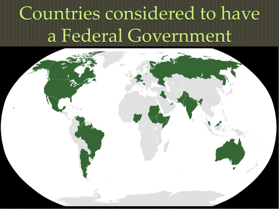 Federation Federal Government Federal System Regional Authority Regional Authority Regional Authority Regional Authority Central Authority