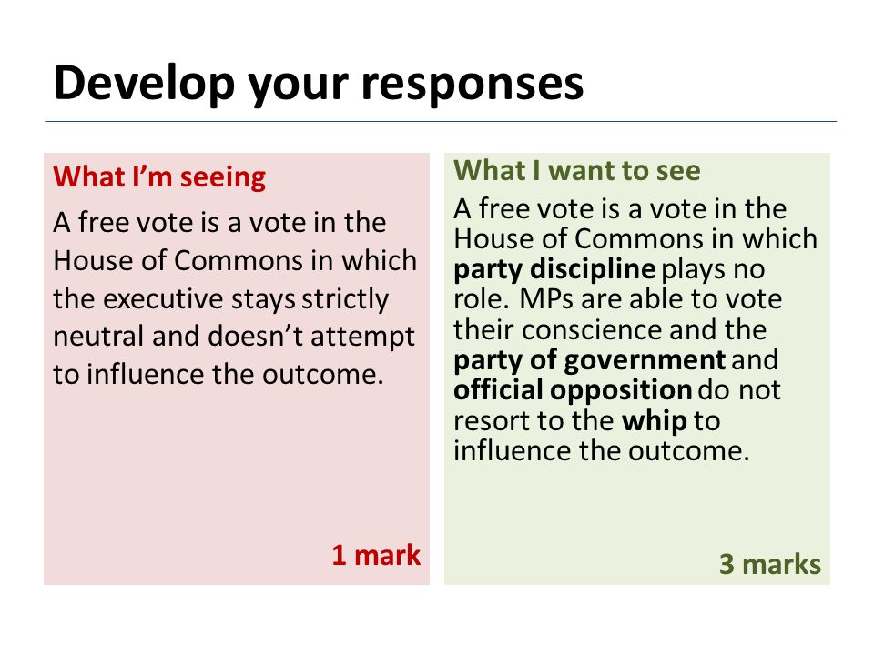 What I'm seeing A free vote is a vote in the House of Commons in which the executive stays strictly neutral and doesn't attempt to influence the outcome.
