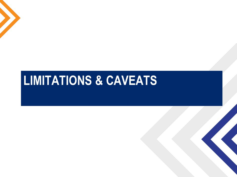 LIMITATIONS & CAVEATS