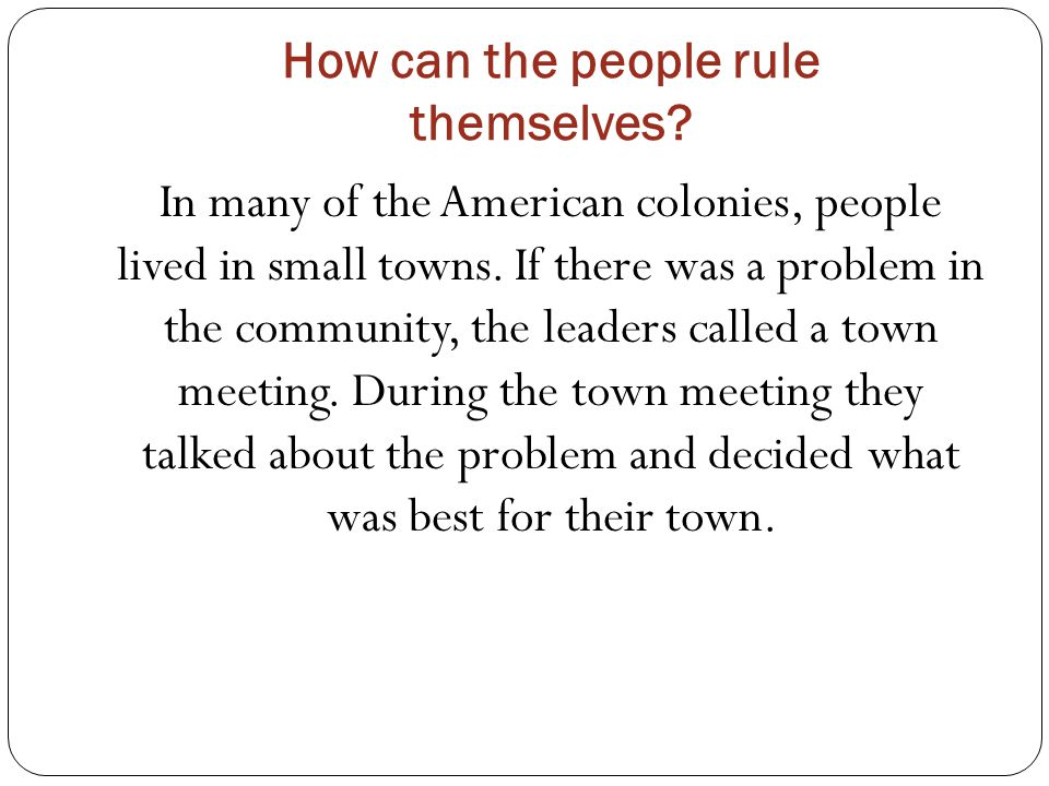 A town meeting is a form of direct democracy.