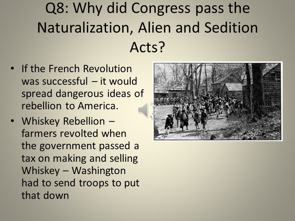 Q7: What fears did the French Revolution bring up for Federalists.