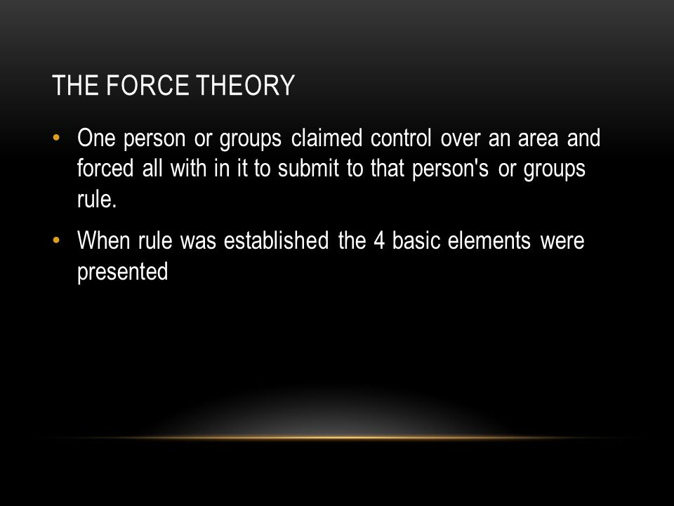 THE SOCIAL CONTRACT THEORY Earliest humans lived in a State of Nature There was no government that existed.