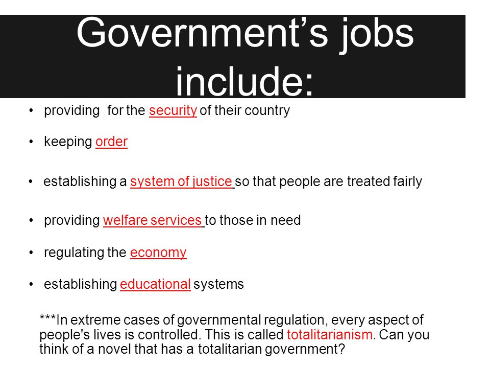 Let's Review A government is: A form of social control.