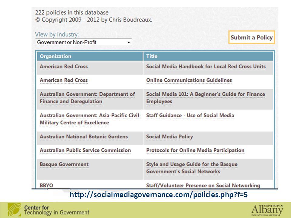http://socialmediagovernance.com/policies.php f=5
