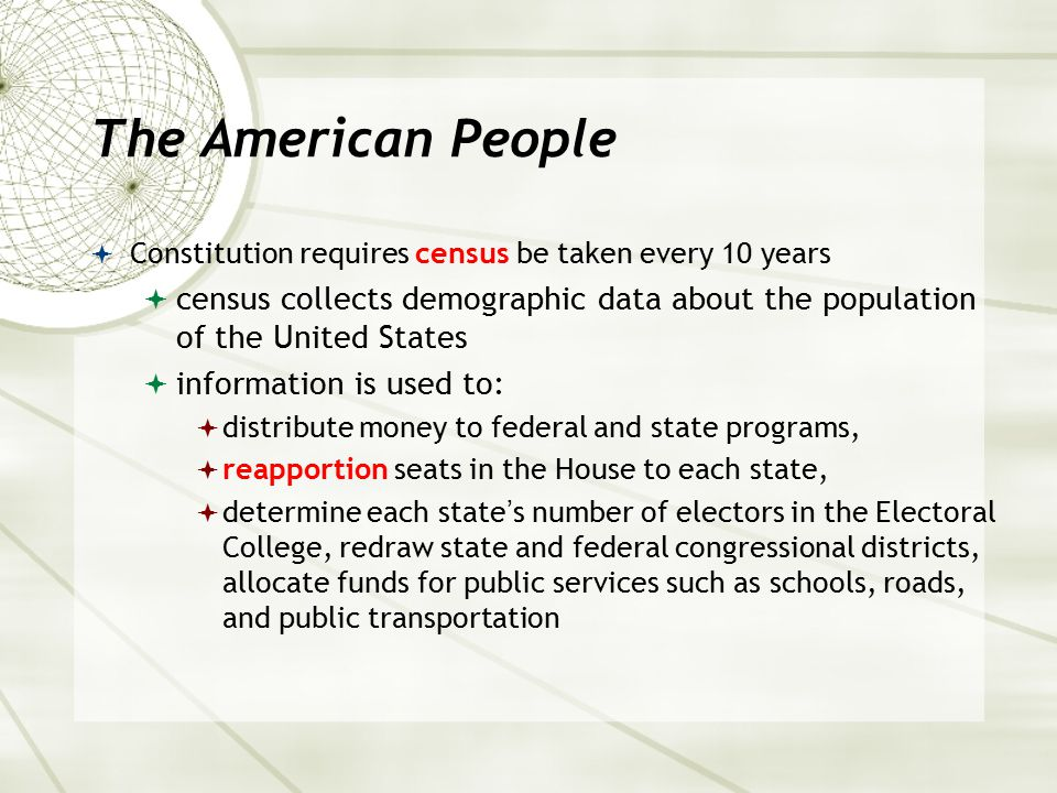 The American People  Census reports confirm United States a nation of immigrants, a melting pot of cultures, ideas, and people  According to recent census data  percentage of minorities is increasing while the percentage of Caucasians is decreasing  could lead to a minority majority in the next few decades  (Also) first time, Hispanic Americans outnumbered African Americans